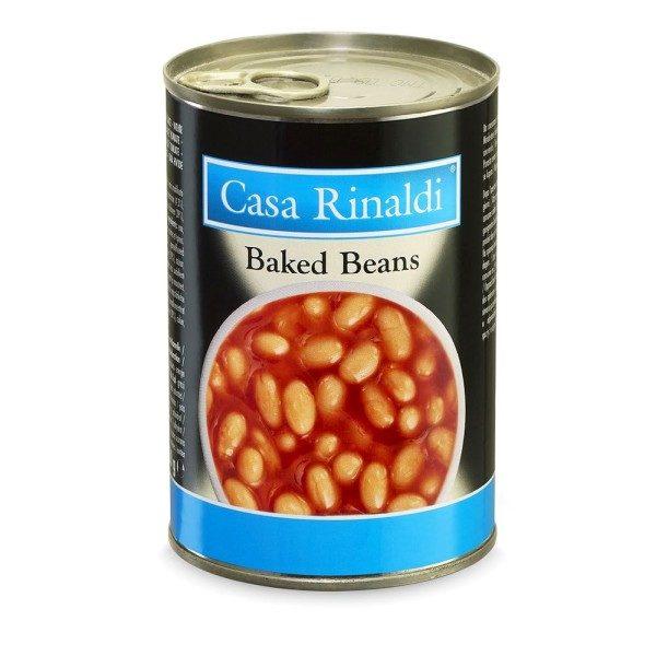 Fasole Baked Beans in sos de rosiii Casa Rinaldi 420 g