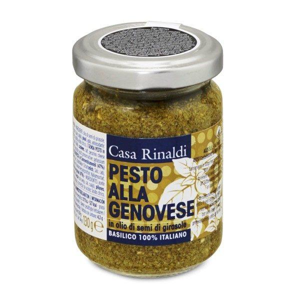 Pesto Genovese in ulei de floarea soarelui Casa Rinaldi 130 g