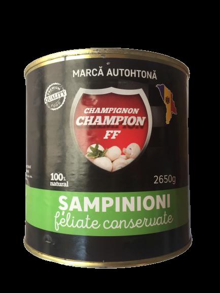 Sampinioni Conservate feliate, 2.650 kg