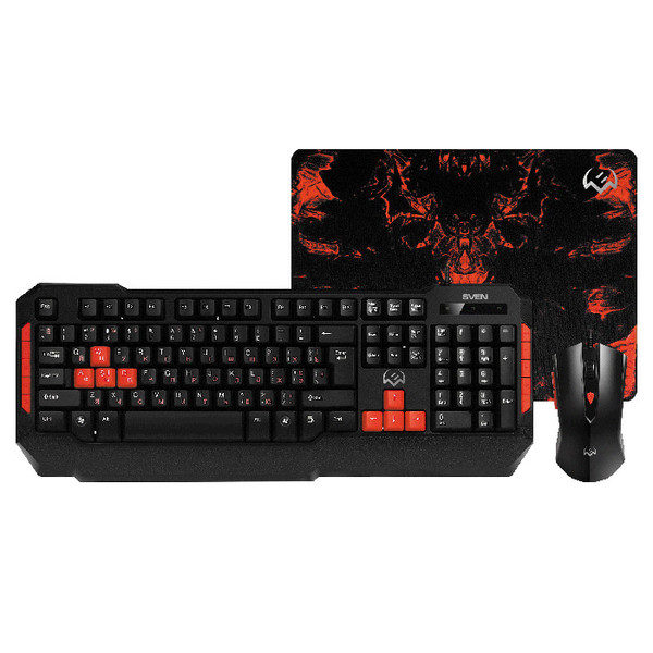 Gaming Keyboard & Mouse & Mouse Pad SVEN GS-9000