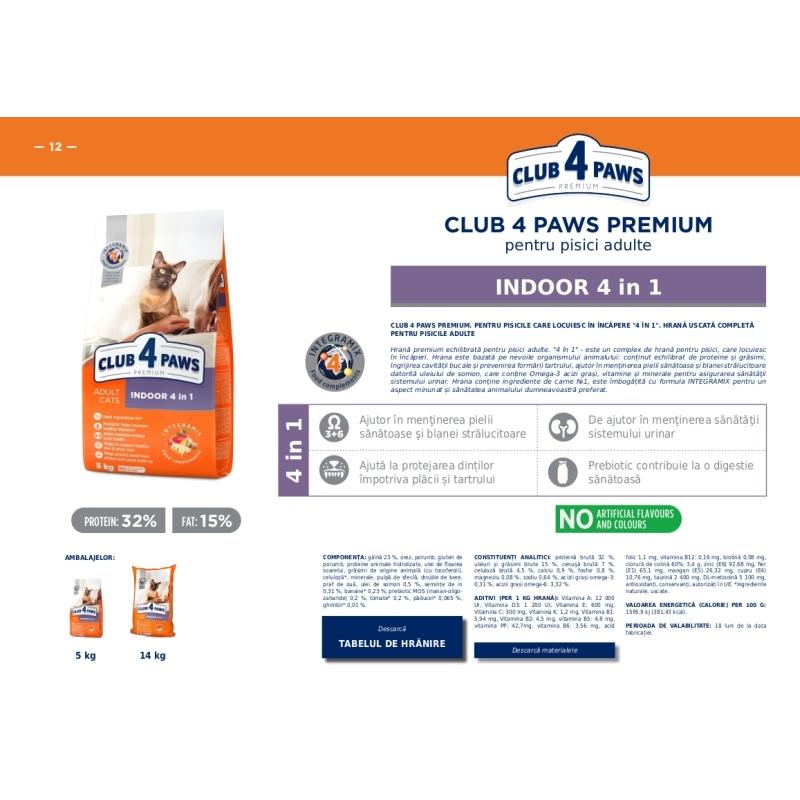 Club4Paws pentru pisici- Indoor 5kg