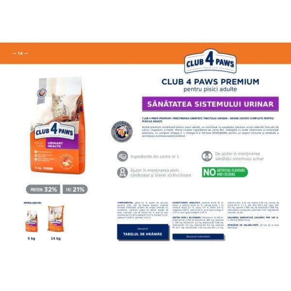 Club4Paws pentru pisici (PH)urinarycontrol 5kg