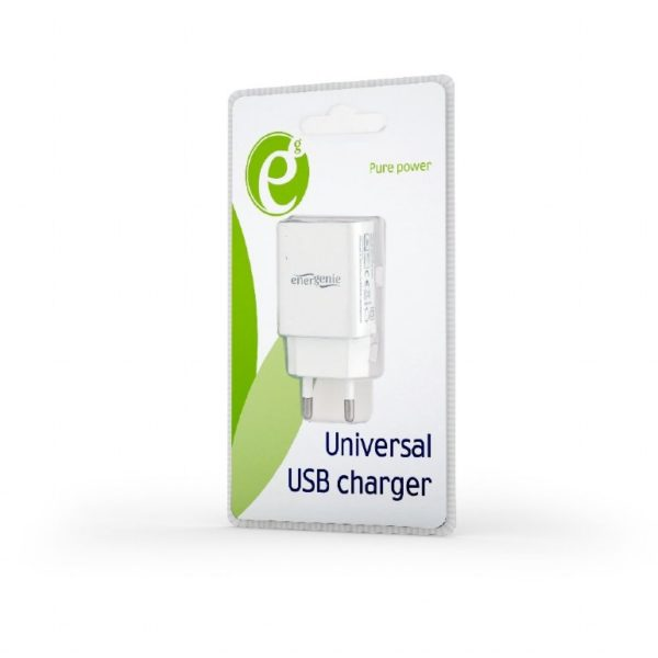 Universal AC USB charging adapter