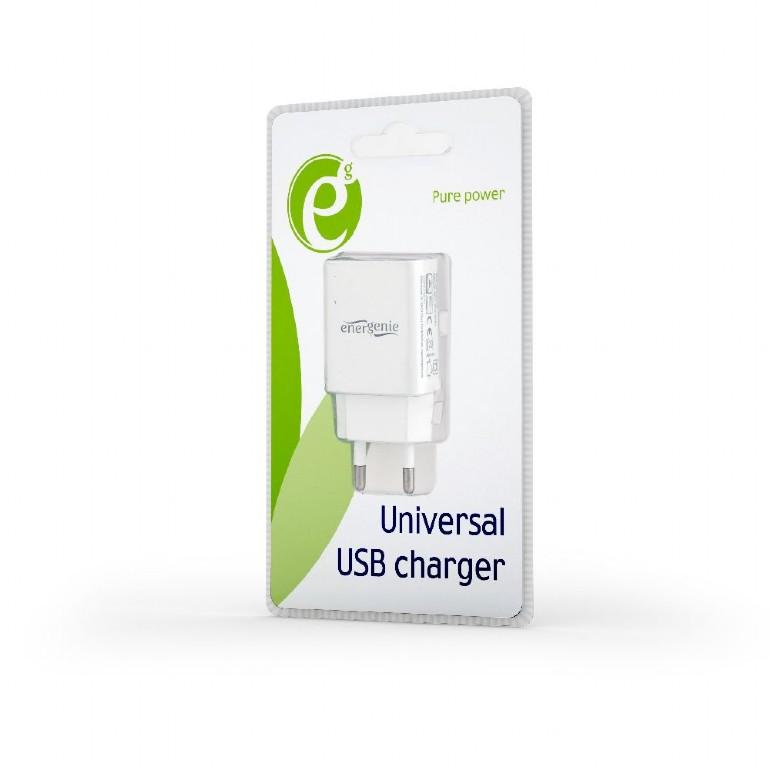 Universal AC USB charging adapter