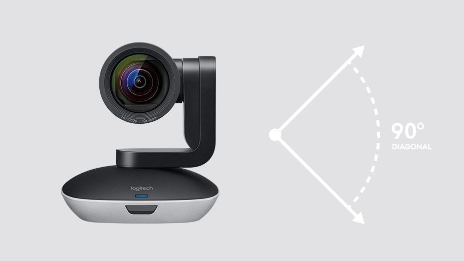 HD 1080p video camera with enhanced pan/tilt and zoom