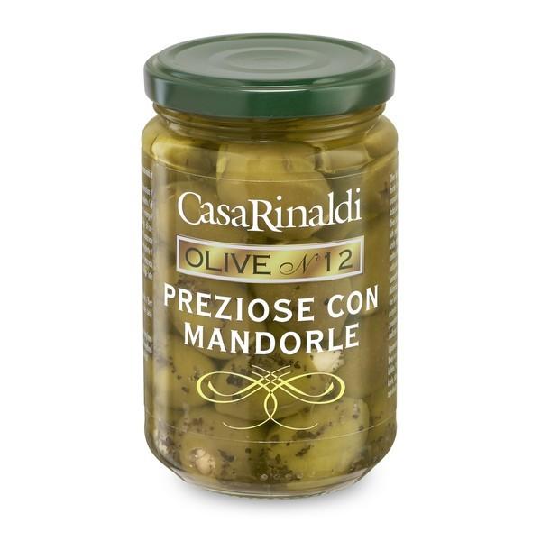 Masline verzi Preziose fara s cu migdale Casa Rinaldi