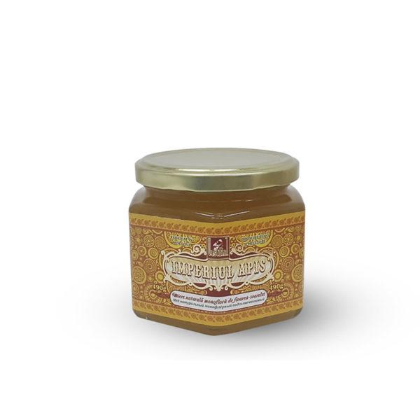Miere naturală monofloră de floarea-soarelui, 490 g