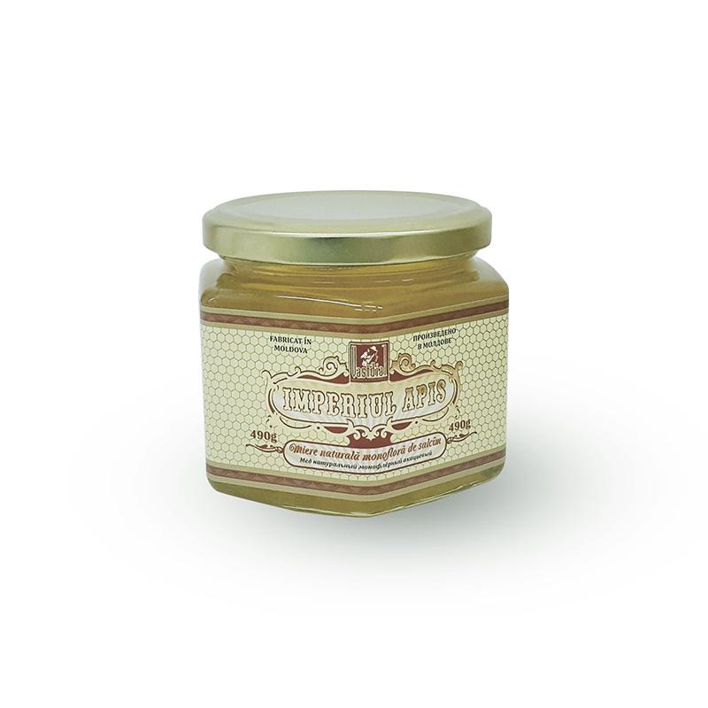 Miere naturală monofloră de salcâm, 490 g