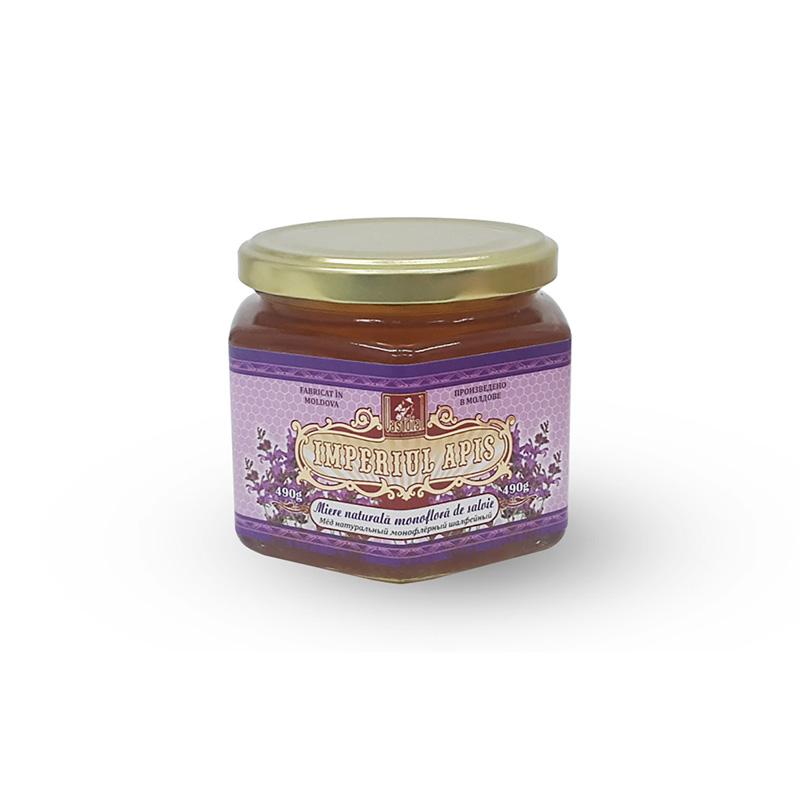 Miere naturală monofloră de salvie, 490 g