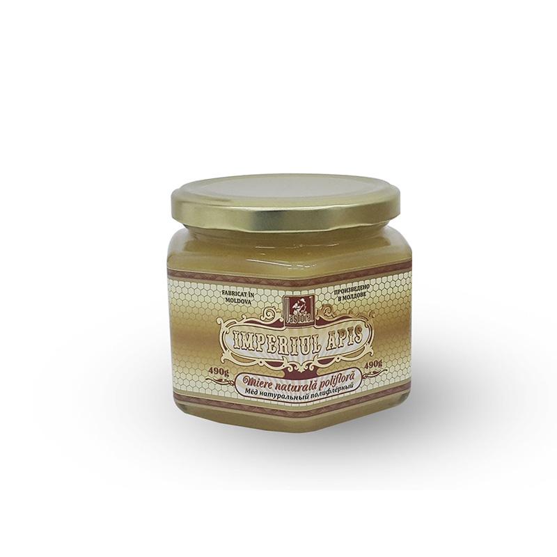 Miere naturală polifloră, 490 g