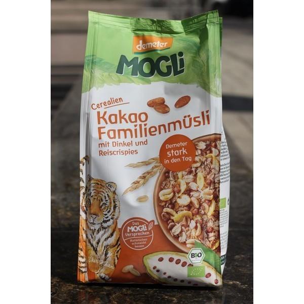 Amestec de cereale bio cu cacao Mogli 750gr