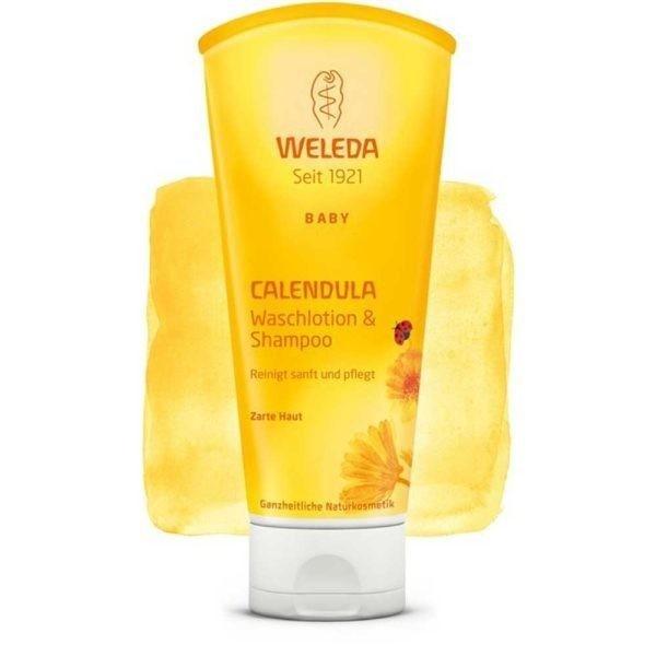 Baby Șampon & Loțiune de curățare cu Gălbenele 200 ml