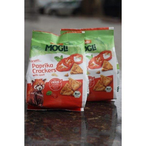 Biscuiți bio din alac cu ardei și roșii Mogli 80gr