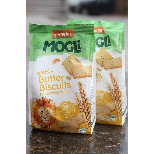Biscuiti Organici cu unt Mogli 125gr
