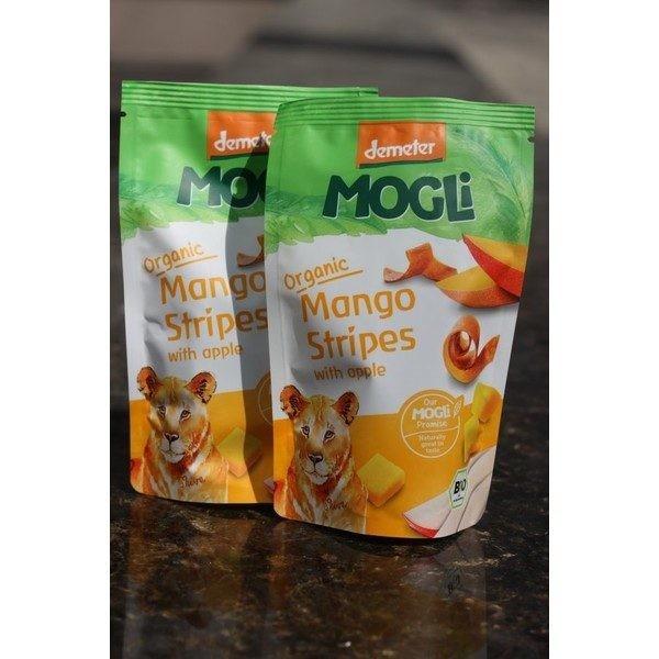 Fâșii bio din piure cu mango și mere Mogli 25gr