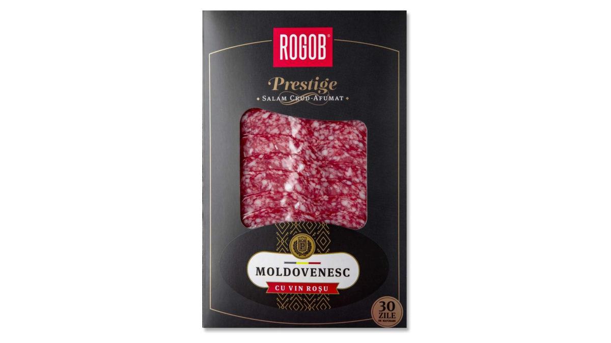 """Salam Crud Afumat """"Moldovenesc"""" cu vin roșu (80 gr.)"""