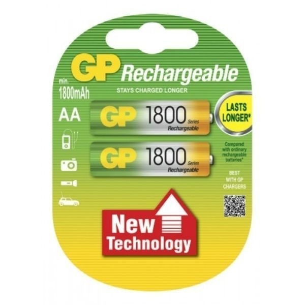 Аккумулятор GP AA 1800 mAh U2 Rechargeble