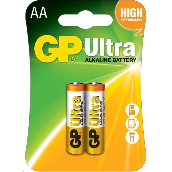 Батарейка GP AA Ultra Alkaline 15AU U2