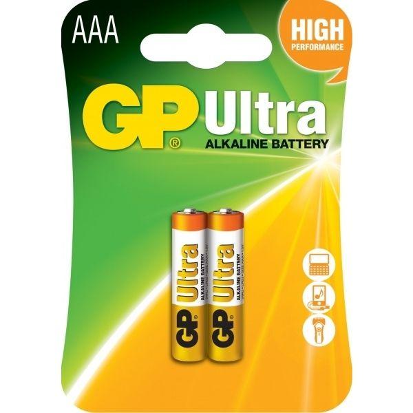 Батарейка GP AAA Ultra Alkaline 24AU U2