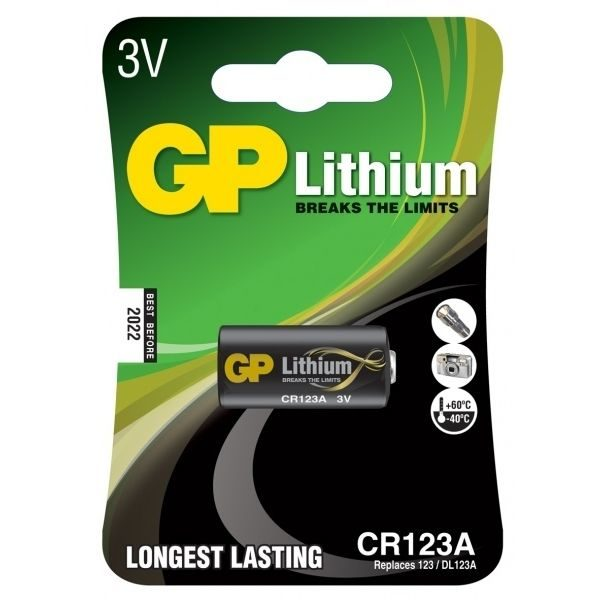 Батарейка GP Lithium CR123A U1
