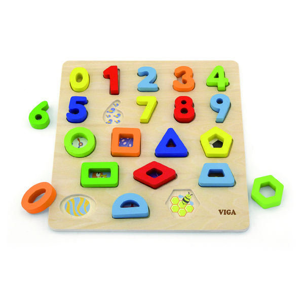 Блок Puzzleы - Цифры и Формы