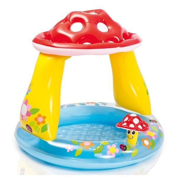 Детский надувной бассейн ГРИБ 102х89см