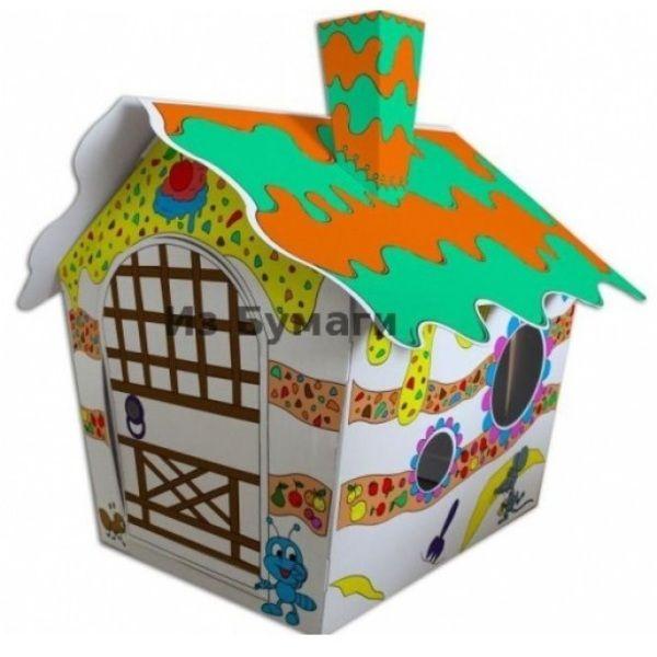 Картонный домик-раскраска STRAWBERRY HOUSE 116x73x88 см