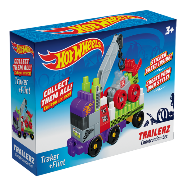 Конструктор BAUER  HOT WHEELS  trailerz Traker + Flint