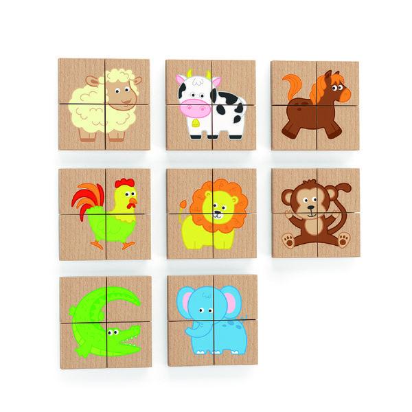 Магнитные блоки головоломки 32 шт. - Животные
