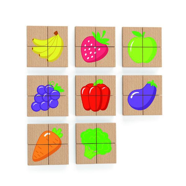 Магнитные блоки головоломки 32 шт. - Фрукты