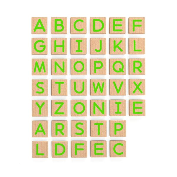Магнитные заглавные буквы (40 шт набор)