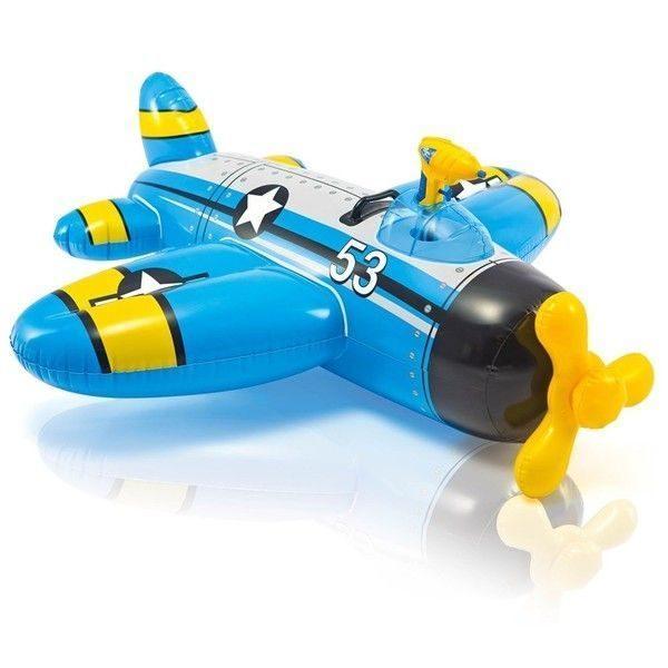 Надувной плотик Самолет WATER GUN PLANE 132x130cм