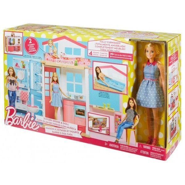 Портативный домик Barbie с куклой