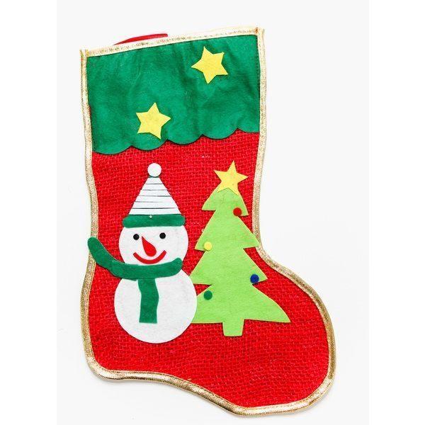 Украшение Носок для Подарков Снеговик
