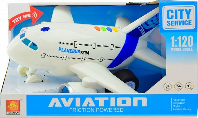"1:120 Avion cu inertie ""Planebus 730A"" (lumina/sunet)"