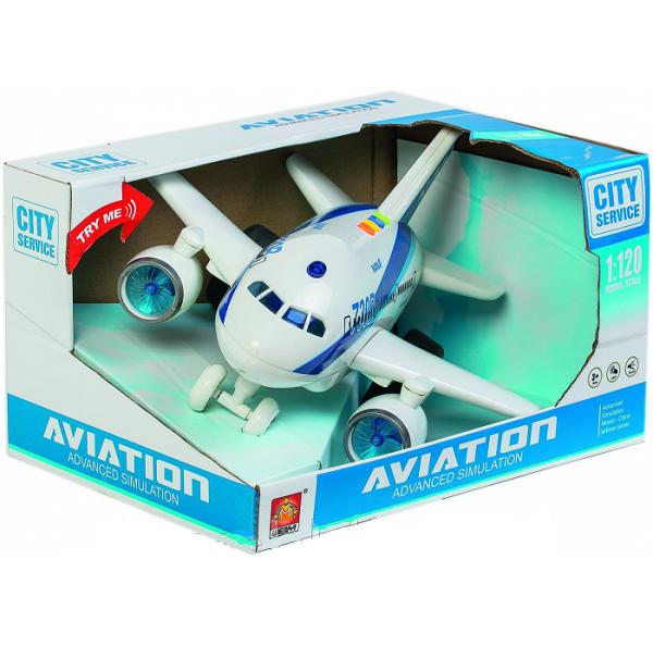"1:120 Avion cu inertie ""Planebus 730B"" (lumina/sunet)"