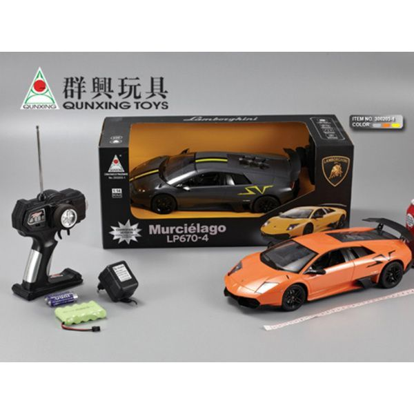 1:14 LAMBORGHINI R/C CAR WITH CHARGER (yellow/ orange/ black)