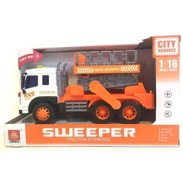 """1:16 Инерционная Машина """"City Service Truck""""  (свет / звук)"""