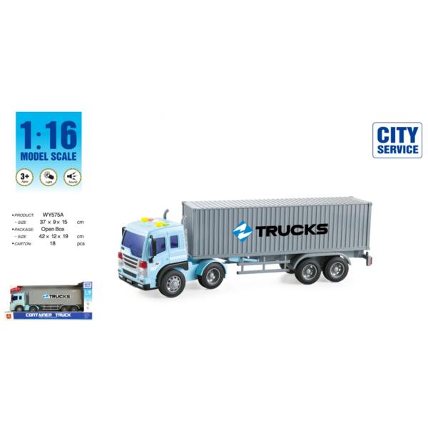 "1:16 Инерционная машина ""Container Trailer Truck"""