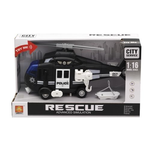 """1:16 Elicopter cu inertie """"Police Helicopter"""" (lumina/sunet)"""