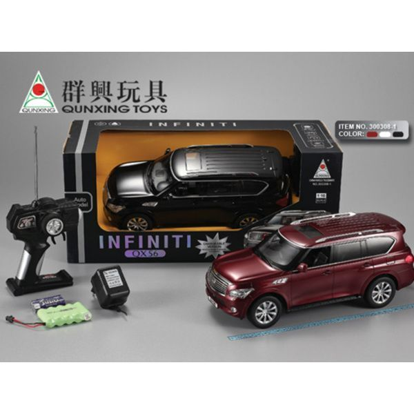 1:16 INFINITI QX56 R/C CAR WITH CHARGER (black/ white)