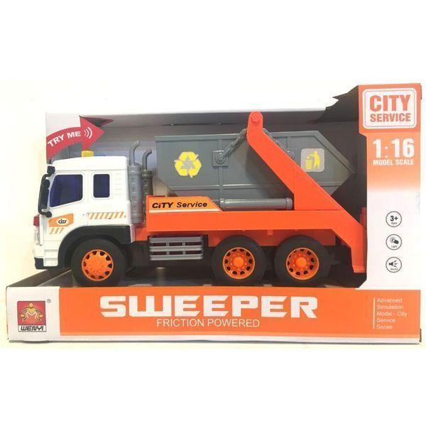 """1:16 Masina cu inertie """"City Service Truck"""" (lumina / sunet)"""