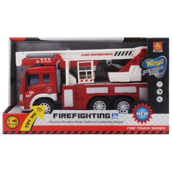 """1:16 Masina cu inertie """"Fire Truck"""" (lumina / sunet)"""