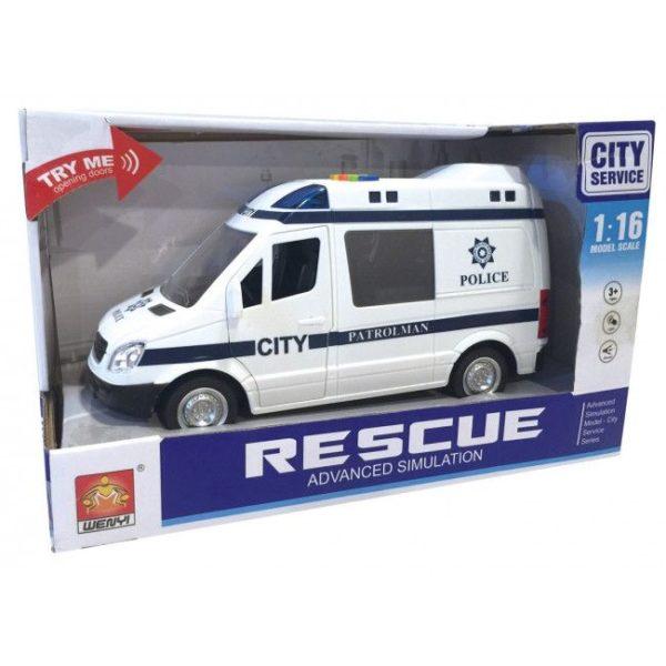 "1:16 Masina cu inertie ""Police Van"" (lumina / sunet)"