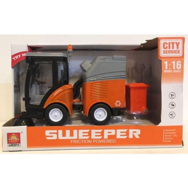 "1:16 Masina cu inertie ""Ride-on Sweeper"" (3 butoane - lumina / sunet)"