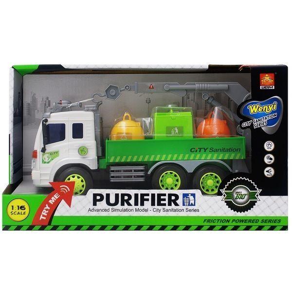 "1:16 Masina cu inertie ""Sanitation Truck"" (lumina / sunet)"