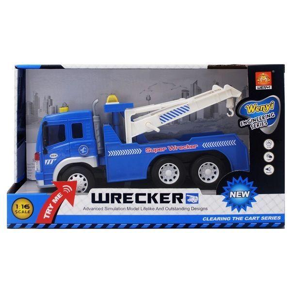 "1:16 Masina cu inertie ""Wrecker Truck"" (lumina / sunet)"