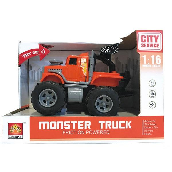"1:16 Masina cu inertie ""Mini Monster Truck"" (lumina / sunet)"