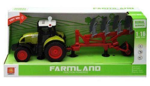 "1:16 Tractor cu inertie ""Trailered Farm Tractor"" (lumina/sunet)"