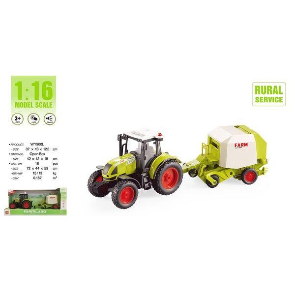 "1:16 Tractor cu inertie ""Trailered Farm Tractor"""